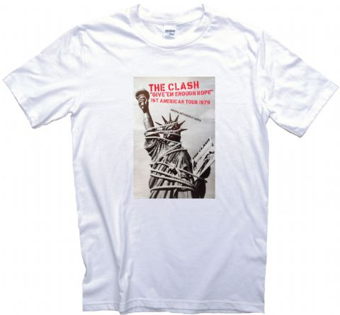 The Clash 1st American Tour Poster T Shirt Give 'em Enough Rope